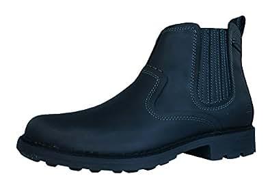 Skechers Pemex Setro Mens Leather Chelsea Boots / Shoes-Black-7