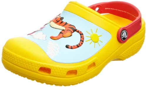 Crocs Creative Winnie The Pooh Jumps Yellow/Red Mules And Clogs Sandal 14292-735-135 3 UK Youth
