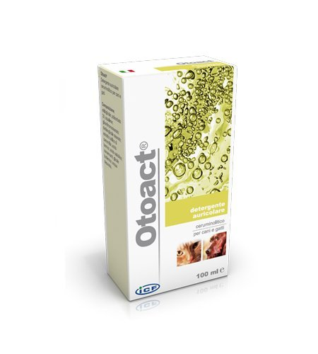 Icf Otoact 100 ml - Detergente auricolare ceruminolitico, per cani e gatti