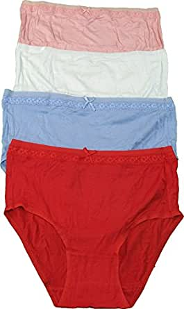 Ellen Tracy Essentials Women's Full Brief Panties 4-Pair