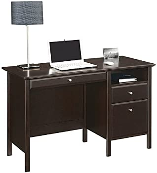 Perfect Get Realspace H x W x D Chase Desk Dark Chestnut from Office Depot u OfficeMax