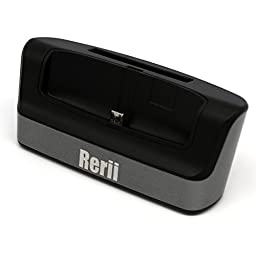 LG G4 Charge Dock Cradle - Rerii 2-in-1 Data SYNC & Charger Dock Cradle for LG G4, Moblie Phone and Battery Charging At The Same time