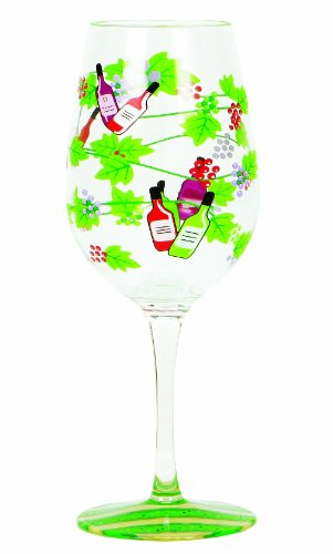 Lolita Love My Party Of Two Wine Tasting 16-Ounce Acrylic Wine Glasses, Set Of 2 front-440852
