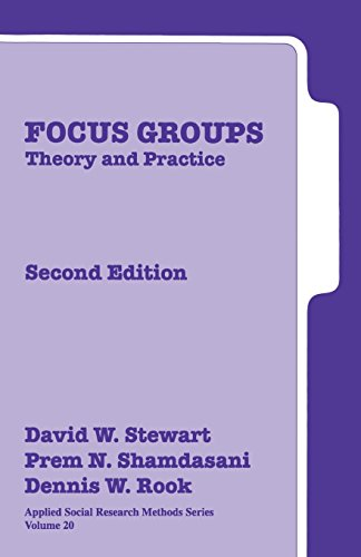 Focus Groups: Theory and Practice (Applied Social...