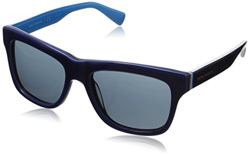D&G Dolce & Gabbana Men's 0DG4203 Square Sunglasses,Blue & Multilayer & Azure,54 mm
