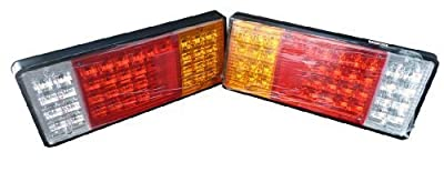 Zxlight®trailer Semi Rig Truck Bus LED Commercial 12v LED Tail Lights Taillights (Pair) produced by Zxlight