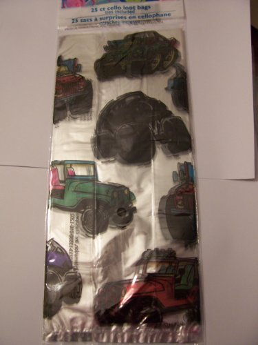 Cello Loot Bags and Ties ~ 25 Count (Off-road Vehicles, Jeeps) - 1
