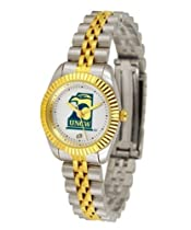 North Carolina Wilmington Seahawks UNCW NCAA Womens 23Kt Gold Watch