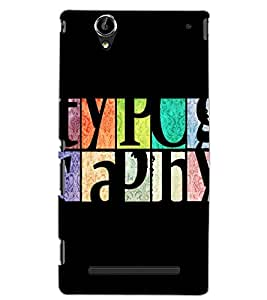 SONY XPERIA T2 TEXT Back Cover by PRINTSWAG