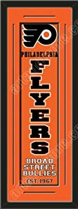Heritage Banner Of Philadelphia Flyers With Team Color Double Matting-Framed Awesome... by Art and More, Davenport, IA