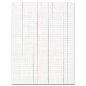 TOPS Data Pad with Numbered Column Headings, Wide Rule, Letter Size, White, 50 Sheets per Pad (3619)