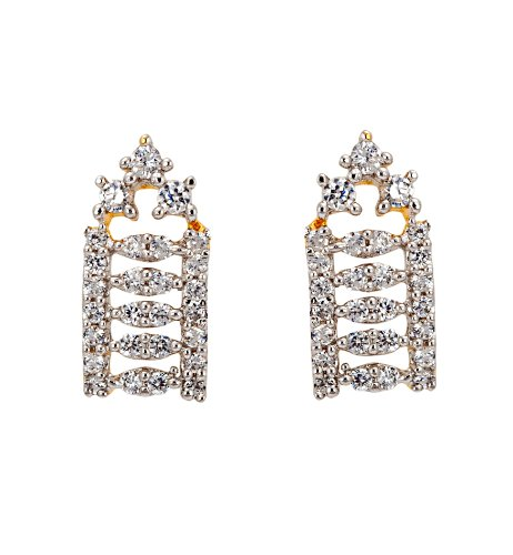 Bindhani White Cubic Zirconium Bali Earrings For Women-ME65