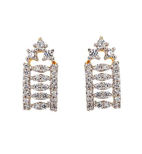 Bindhani White Cubic Zirconium Bali Earrings For Women-ME65