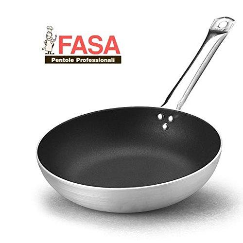 Padella alta antiaderente SilverStone 1 Manico professionale della FASA diametro 32 cm in alluminio puro 99% MADE IN ITALY