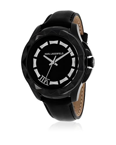 Karl Lagerfeld Women's KL 1009 Stainless Steel and Leather/Black Watch