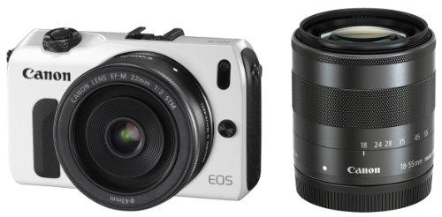 Canon デジタル一眼カメラ EOS M(ホワイト) ダブルレンズキット EOSMWH-WLK
