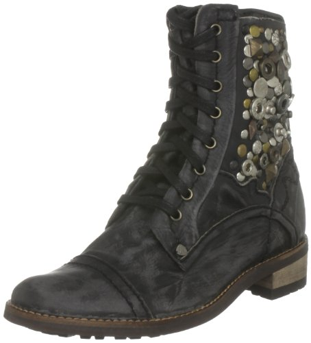 Feud Britannia Women's Collage Black Ankle Boot 202204591 6 UK
