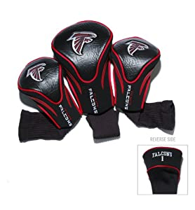 NFL Atlanta Falcons 3 Pack Contour Fit Headcover by Team Golf