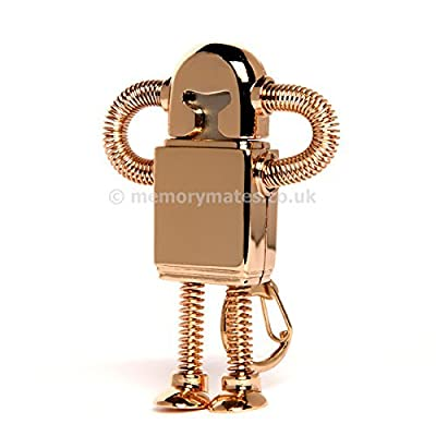 Asone Stainless Steel ROBOT High Speed USB 2.0 High Speed Flash Pen Drive Disk Memory Stick Support Windows and Mac OS Shock Proof Metallic Body with Key Ring and Belt Loop Great Gift