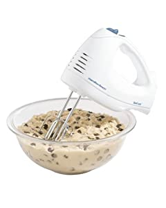 Hamilton Beach 62682RZ Hand Mixer with Snap-On Case, White by Hamilton Beach