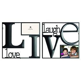 Burnes of Boston 5141264 Live Love Laugh Wire Frames 2-Piece Black