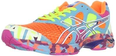 ASICS Men's Noosa TRi 7 Running Shoe,Neon Orange/White/Turquoise,11 M US