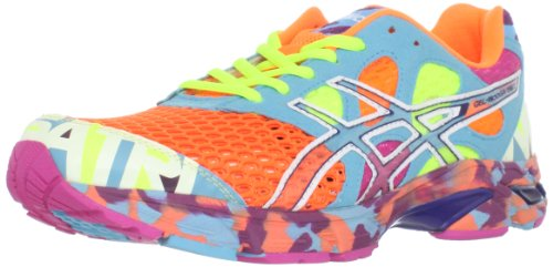 ASICS ASICS Men's Noosa TRi 7 Running Shoe,Neon Orange/White/Turquoise,10 M US