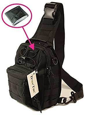 TravTac Small EDC Sling Pack - Includes Emergency Blanket from Trusted Empire
