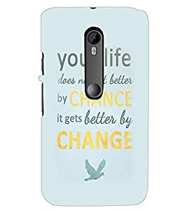 PrintDhaba Inspirational Quote D-2256 Back Case Cover for MOTOROLA MOTO G3 (Multi-Coloured)