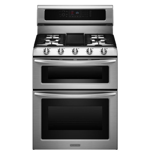 KitchenAid Architect Series II KGRS505XSS 30 Freestanding Gas Range, 5 Sealed Burners, Self Clean