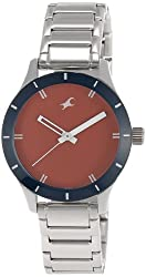 Fastrack Monochrome Analog Red Dial Womens Watch - 6078SM05