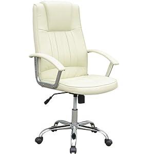 Jago bds08beige pu sedia ufficio colore beige for Sedia da ufficio amazon
