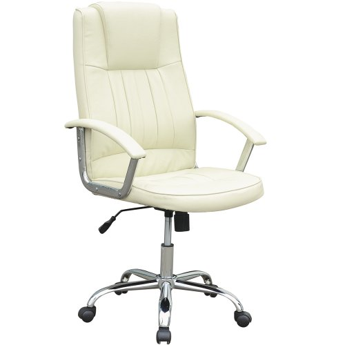Miadomodo® Office Chair Ergonomic Desk Furniture Executive Beige Buffalo Split Leather