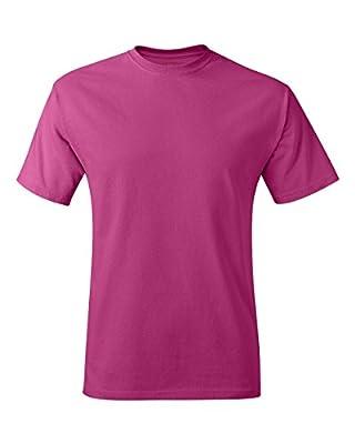 Hanes Men's Tagless T-Shirt (Wow Pink)