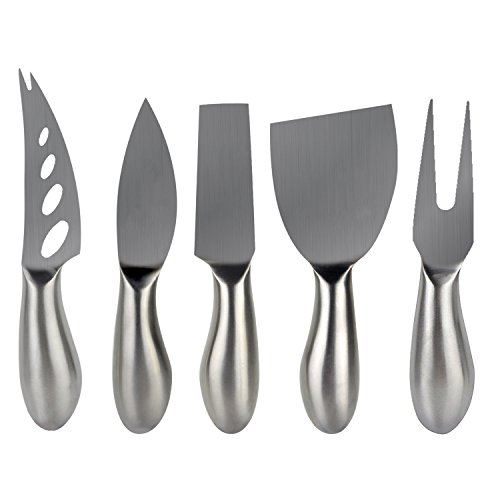 Freehawk® 5 Pieces Set Cheese Knives Steel Stainless Cheese Slicer Cheese Cutter