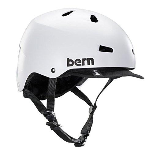 bern (バーン)ヘルメット [ MACON VISOR /Satin WhiteサイズM]オールシーズンタイプ (2014/15モデル)JAPAN FIT