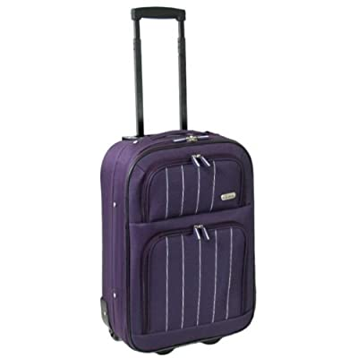 Karabar Cabin Approved 19 Inch Super Lightweight Suitcase 48 x 35 x 20 cm all parts included (Aubergine)