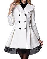 Chinatera Femme Elégant Veste Manteau en Laine chaud pour l'Hiver et Printemps