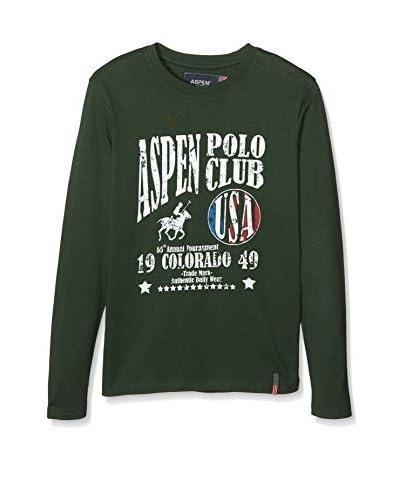 Aspen Polo Club Camiseta Manga Larga Verde Bosque