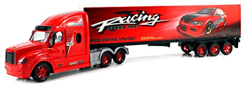 Optimal S3K Racing Trailer Remote Control RC Semi-Truck Ready To Run RTR w/ Opening Rear Trailer Doors (Colors May Vary)