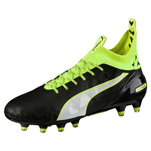 Puma Herren Evotouch Pro FG Fußballschuhe, Schwarz (Black-White-Safety Yellow 01), 43 EU -