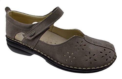 art M2313 scarpa donna velcro taupe tortora ortopedica trafori 40 tortora
