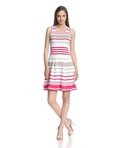 Marc New York by Andrew Marc Women's Striped Fit-and-Flare Dress