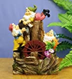 INDOOR OR OUTDOOR GNOMES WITH WATERWHEEL ORNAMENT (B)