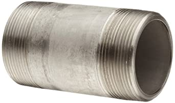 Stainless Steel 316/316L Pipe Fitting, Nipple, Schedule 80, Seamless Extra Heavy, NPT Male