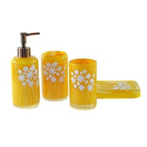 dream bath yellow snow bath ensemble 4 piece bathroom