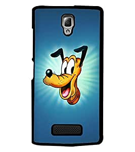PrintDhaba Goofy D-2451 Back Case Cover for LENOVO A2010 (Multi-Coloured)