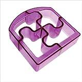 Sandwich Cutters Puzzle Bites Translucent in Purple *NEW* $9.99