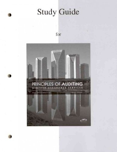 Student Study Guide to accompany Principles of Auditing...