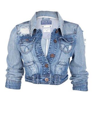 Soul Cal Deluxe Vintage Denim Jacket - Light blue - Womens - 18